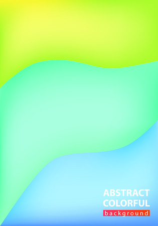 Abstract colorful wave background, illustration vector 向量圖像