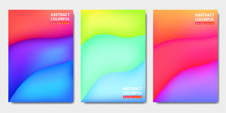Three abstract background, waves volume, vector illustration Standard-Bild - 111586302