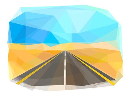 High-speed road, desert, vector illustration Standard-Bild - 111557696