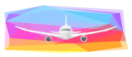 Airplane on colorful background, vector illustration Standard-Bild - 109900307