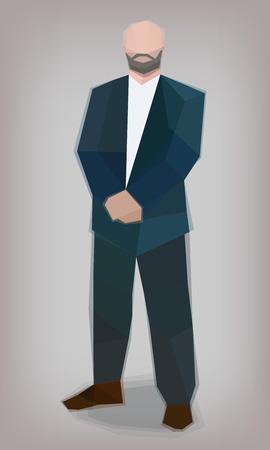 Man in  suit,  bodyguard, vector illustration Standard-Bild - 112436308