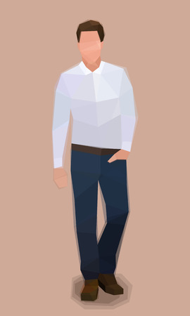 Stylish man hands in pocket, model clothes, vector illustration Ilustrace