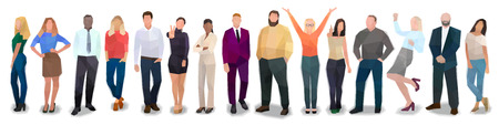 Creative team of people, vector illustration
