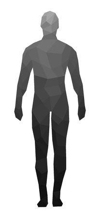 The human figure, faces, geometry, vector illustration