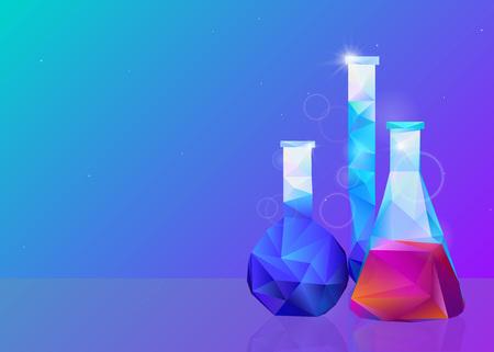 Vessels analyses chemistry medicine vector illustration