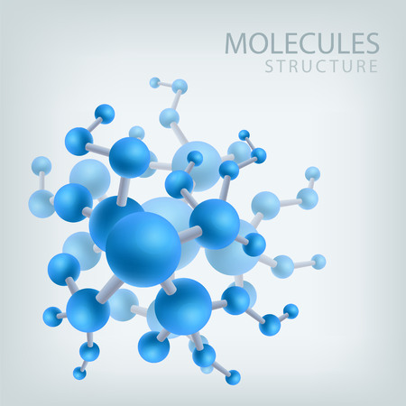 Molecule structure structure, vector illustration