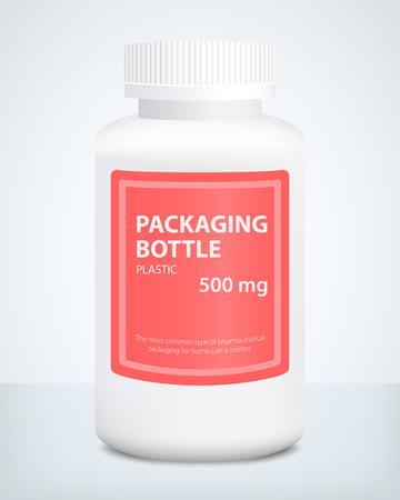 Plastic bottle, pattern, vector illustration