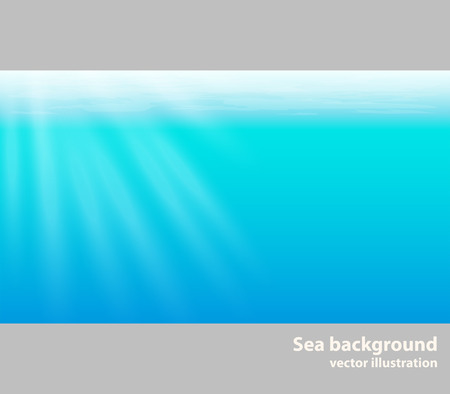 Sea background, water vector illustration