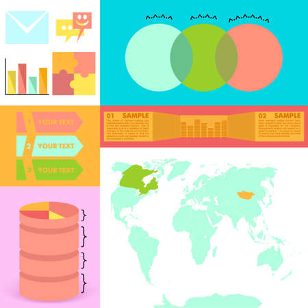 Infographics graph location, abstract, vector illustration Illustration