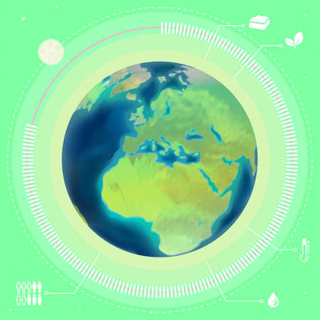 Planet Earth infographics, vector illustration