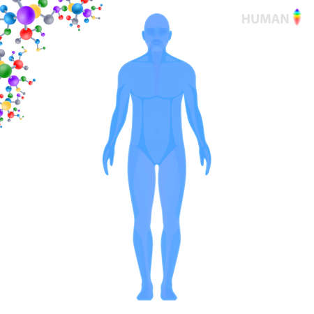 Human research, vector illustration