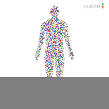 Human connections, cosmetology petids, genetics vector illustration