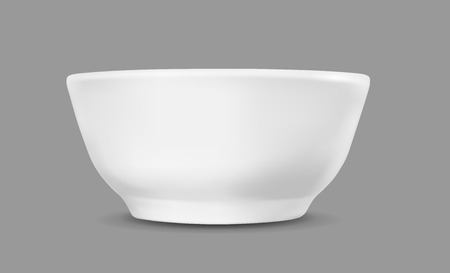 White container for ice cream or fast food.