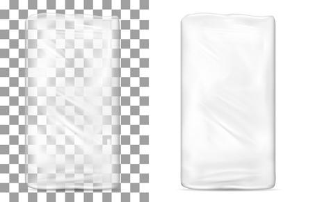 Emballage en plastique transparent et transparent pour le papier hygiénique, le savon et les cosmétiques. Banque d'images - 85571694