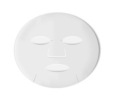 feuille blanche masque
