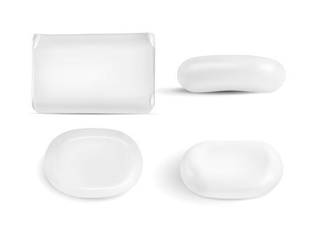 bath: White blank paper packaging Vectors