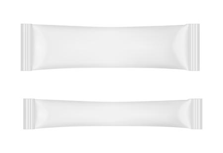 Imballaggio monouso bianco per spuntini, alimenti, zucchero e spezie.