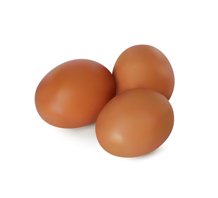 Realistic vector image of yellow eggs.