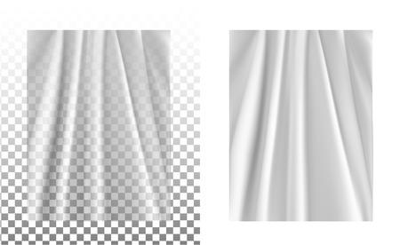 White transparent plastic wrapper. Stock Vector - 85818362