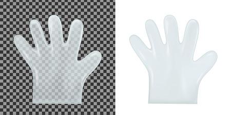 Disposable transparent plastic gloves vector illustration Stock Vector - 85818366