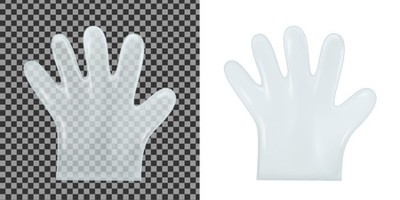 Disposable transparent plastic gloves vector illustration Illustration