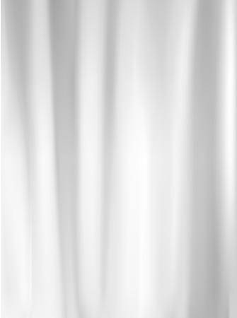 White plastic wrapper Vector illustration.