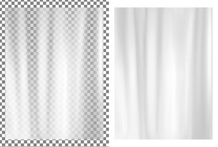 White transparent plastic wrapper. Vector illustration.