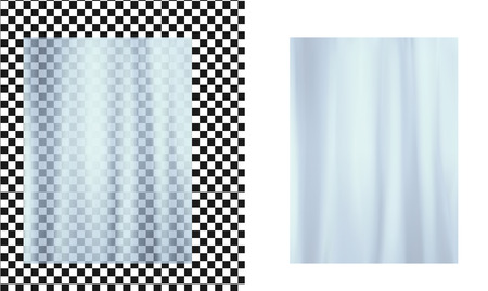 Blue transparent plastic wrapper. Vector illustration.