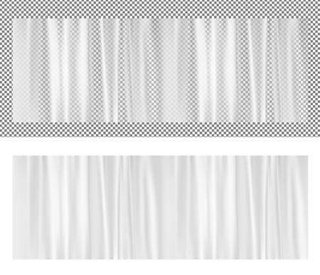 White transparent plastic wrapper. Vector illustration. Stock Vector - 85818417
