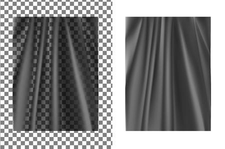Black transparent plastic wrapper. Illustration