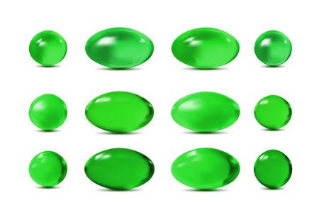 Green 3d pills illustration