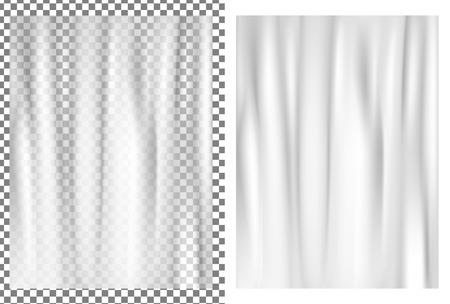 White transparent plastic wrapper.