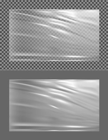 Realistic transparent plastic wrapper.