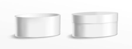 Oval metal can for food, cookies and gifts.