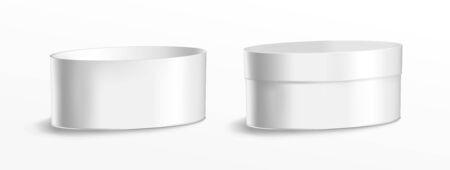 Boîte métallique ovale pour la nourriture, les biscuits et les cadeaux.