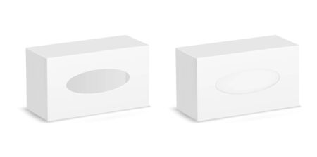 White package window. Vector cardboard box