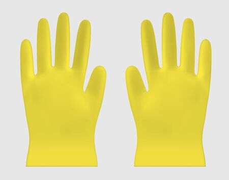 Disposable vector plastic or nitrile gloves  イラスト・ベクター素材