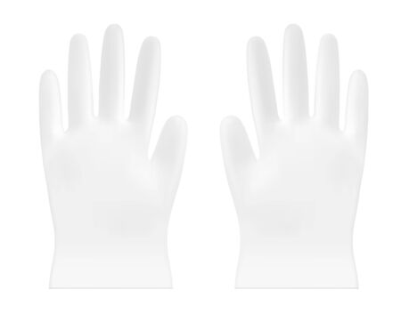 Disposable vector plastic or nitrile gloves Illustration
