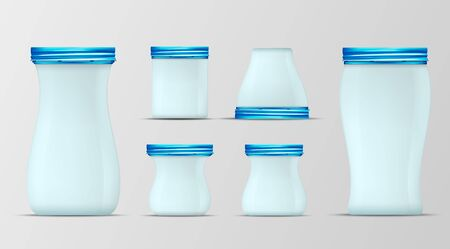 Blue glass jar with screw cap