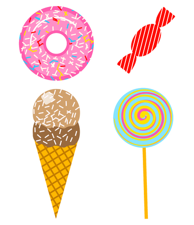Fun stickers for Girl, fashion cute patches, badges, pins. Collection different elements for notebook. Vector trendy illustration. tasty food Vectores