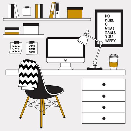 Work space Illusztráció