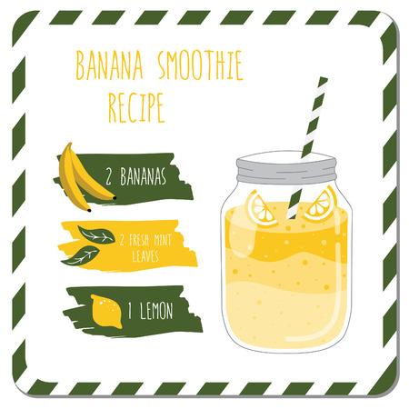 Banana smoothie recipe.