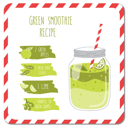fruit smoothie: Green smoothie recipe.