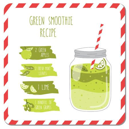 limon caricatura: Receta de batido verde.