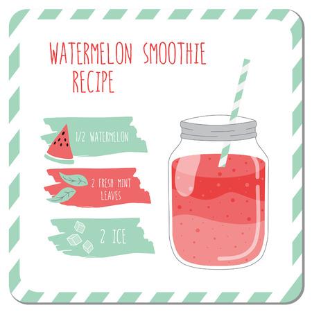 the recipe: Watermelon smoothie recipe.