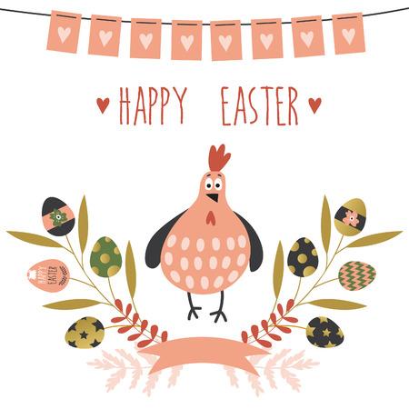 Happy Easter card Illusztráció
