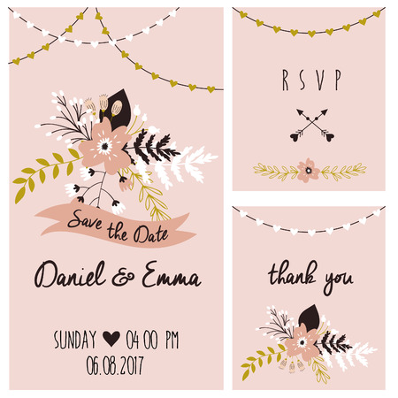 Wedding template card. Invitation