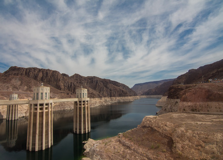 hoover dam: Hoover Dam in Nevada, USA Editorial