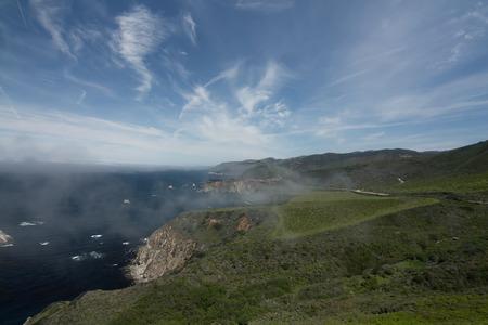 big sur: Foggy Big Sur coastline