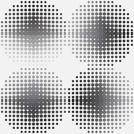 coatings: Halftone background Black circles vector illustration.